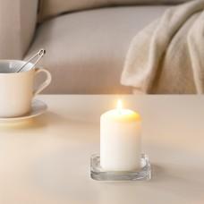 شمع غير معطر, لون طبيعي10 سم